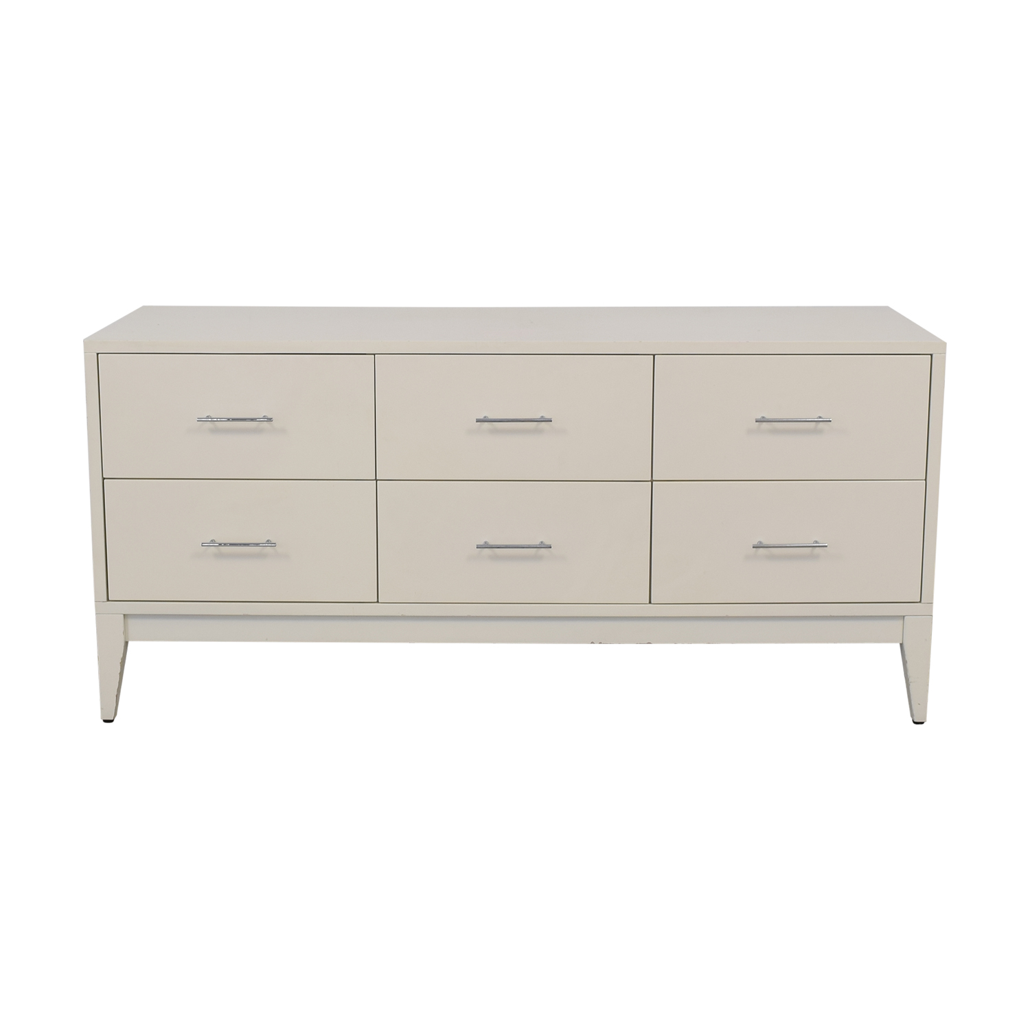 West Elm Narrow Leg Six Drawer Dresser sale