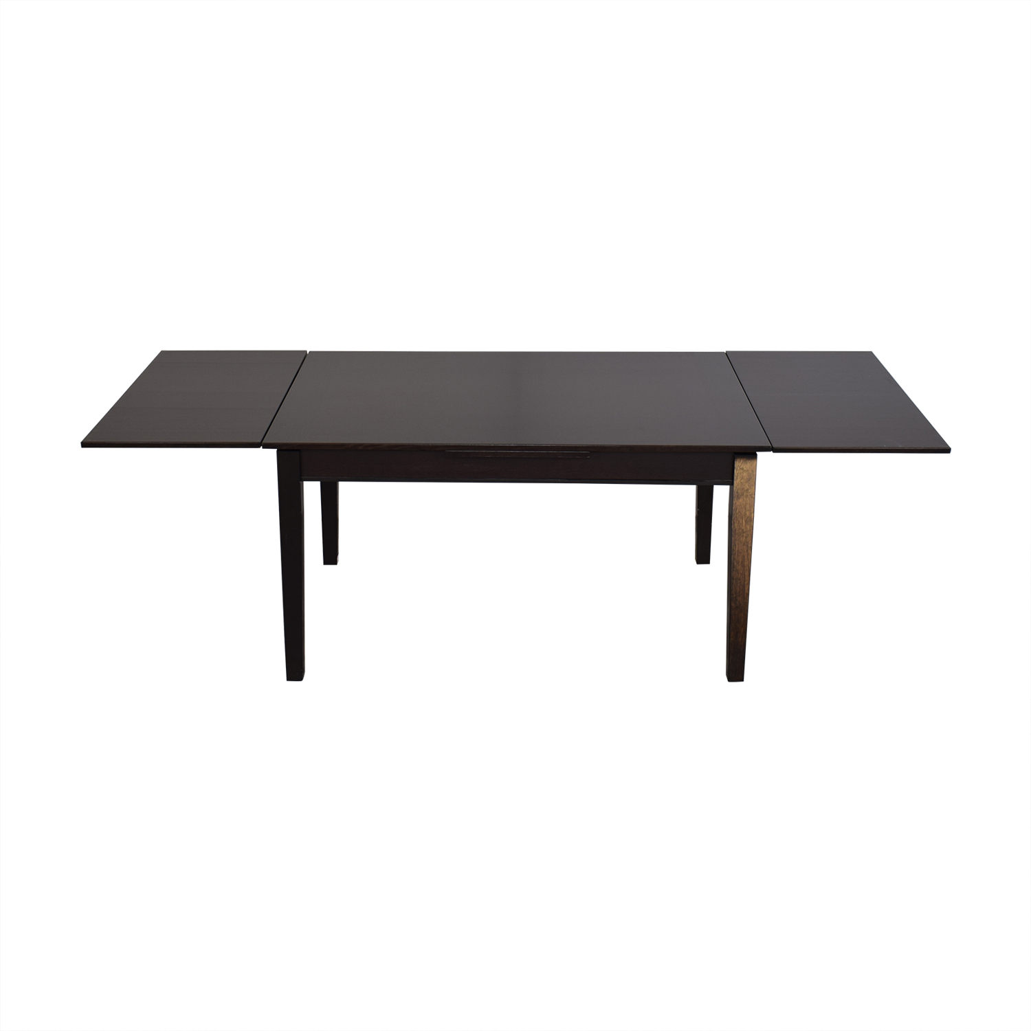 Crate & Barrel Crate & Barrel Pratico Bruno Extension Square Dining Table nyc