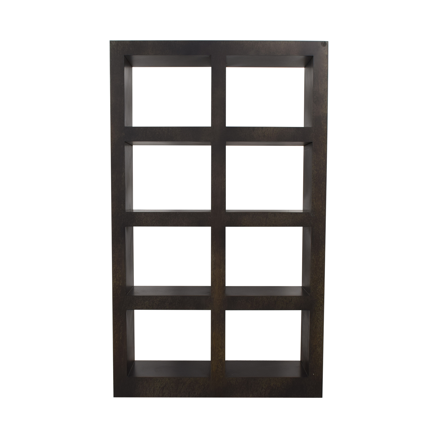 shop Crate & Barrel Shadowbox Storage Tower Crate & Barrel Bookcases & Shelving