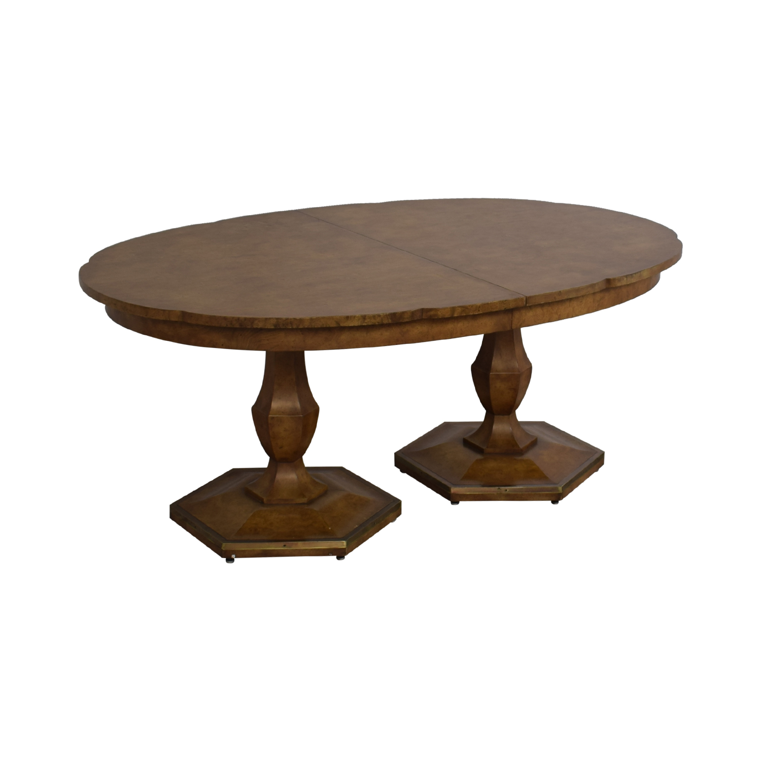 Mastercraft Furniture Mastercraft Furniture Scalloped Edge Dining Table coupon