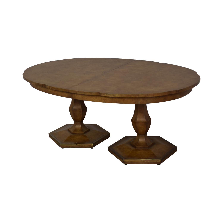 buy Mastercraft Furniture Scalloped Edge Dining Table Mastercraft Furniture Tables