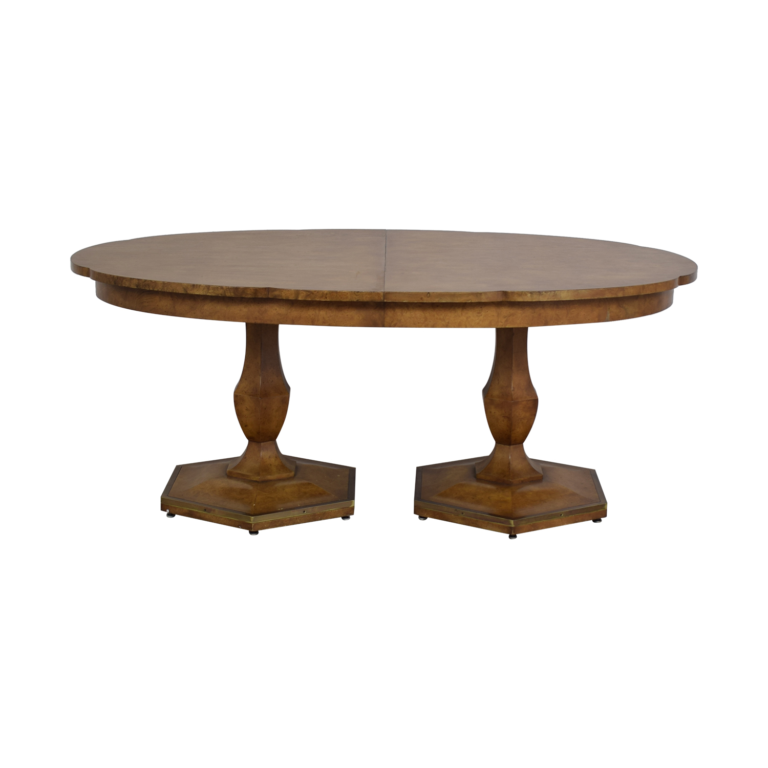 buy Mastercraft Furniture Scalloped Edge Dining Table Mastercraft Furniture