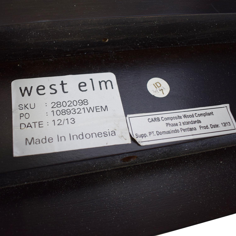 West Elm West Elm Low Wood Cutout Queen Bed Bed Frames