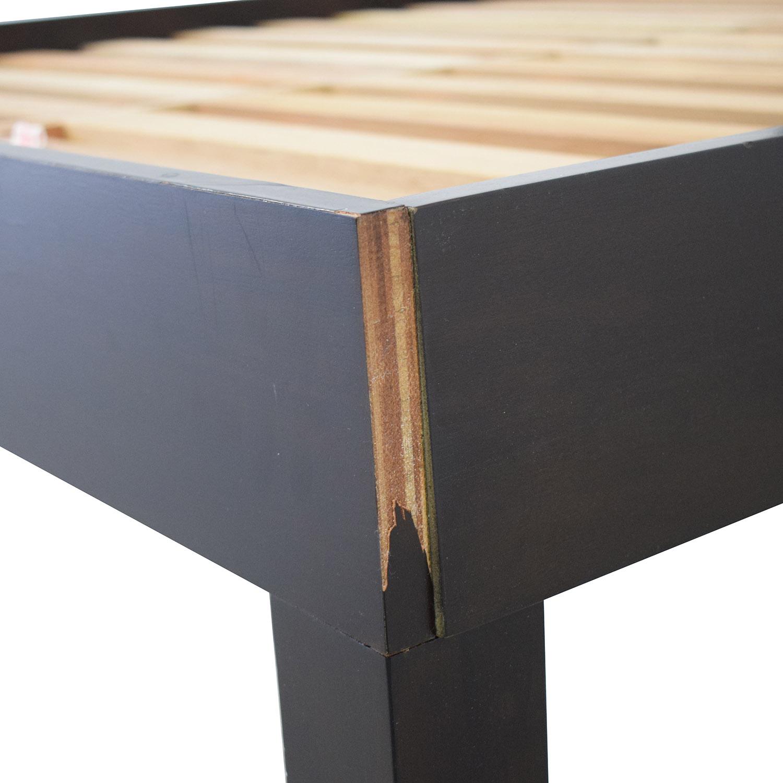 shop West Elm Low Wood Cutout Queen Bed West Elm Bed Frames