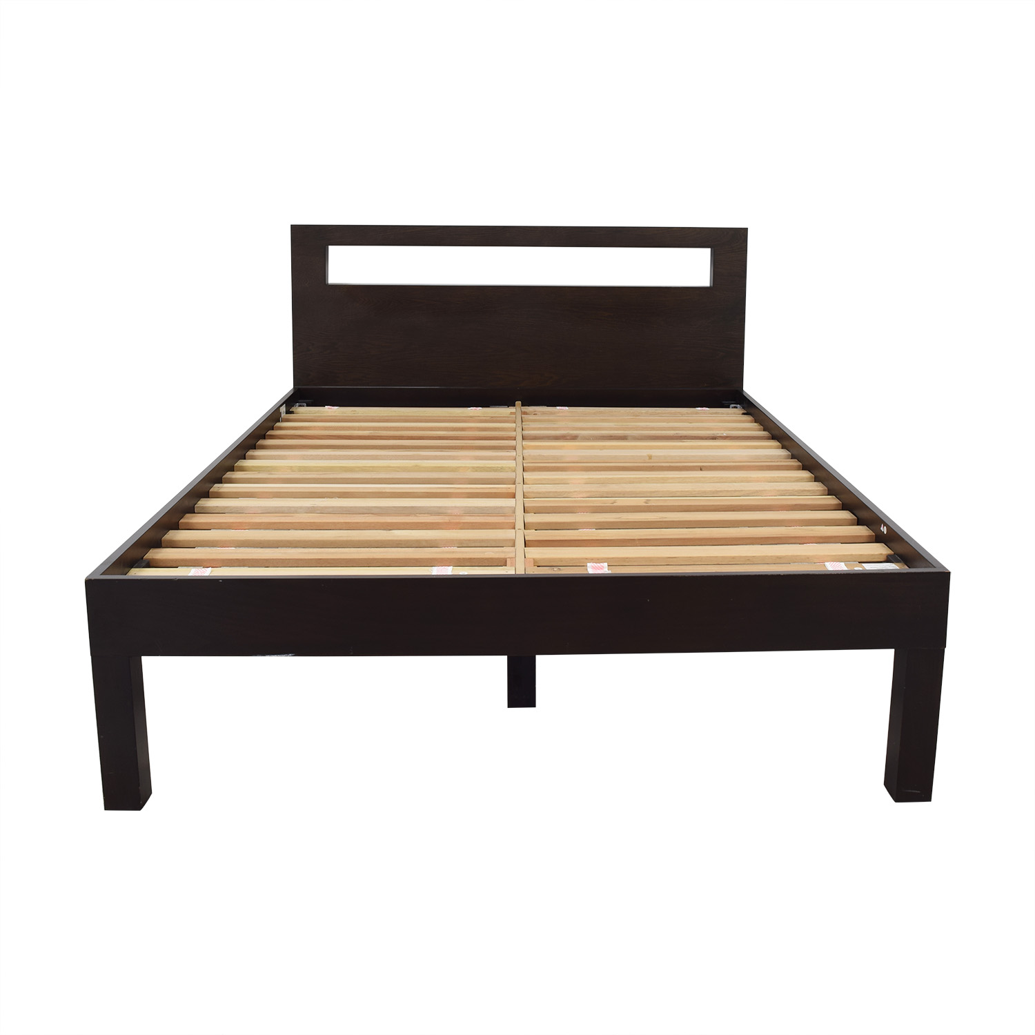 West Elm West Elm Low Wood Cutout Queen Bed price