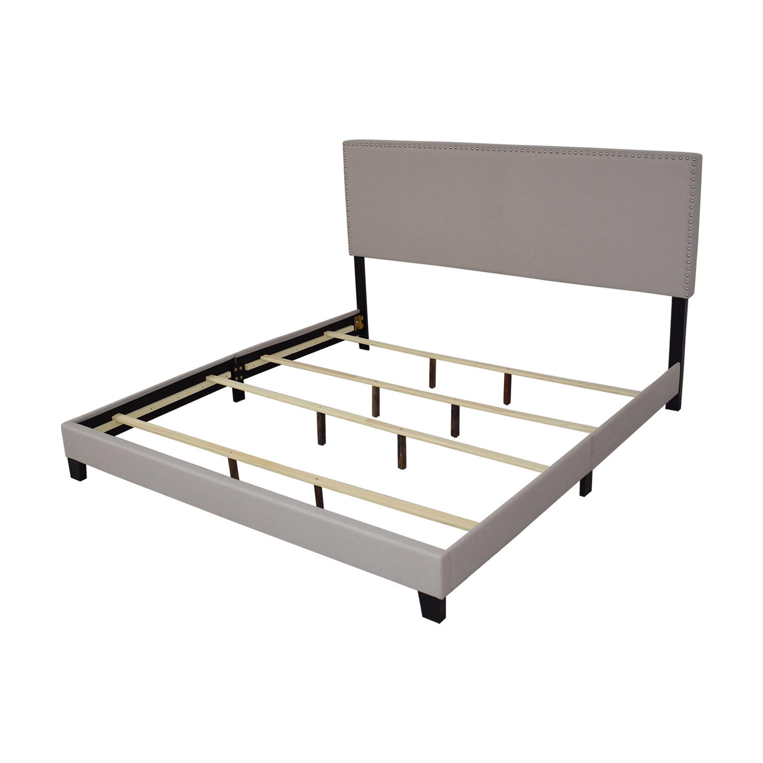 Raymour & Flanigan Raymour & Flanigan Platform King Linen Bed price