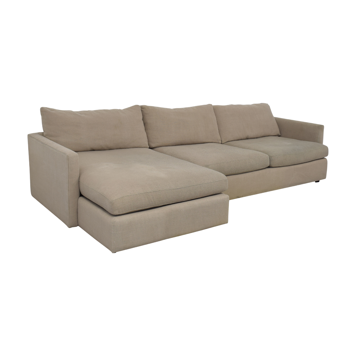 Crate & Barrel Crate & Barrel Axis II Chaise Sectional Sofa used