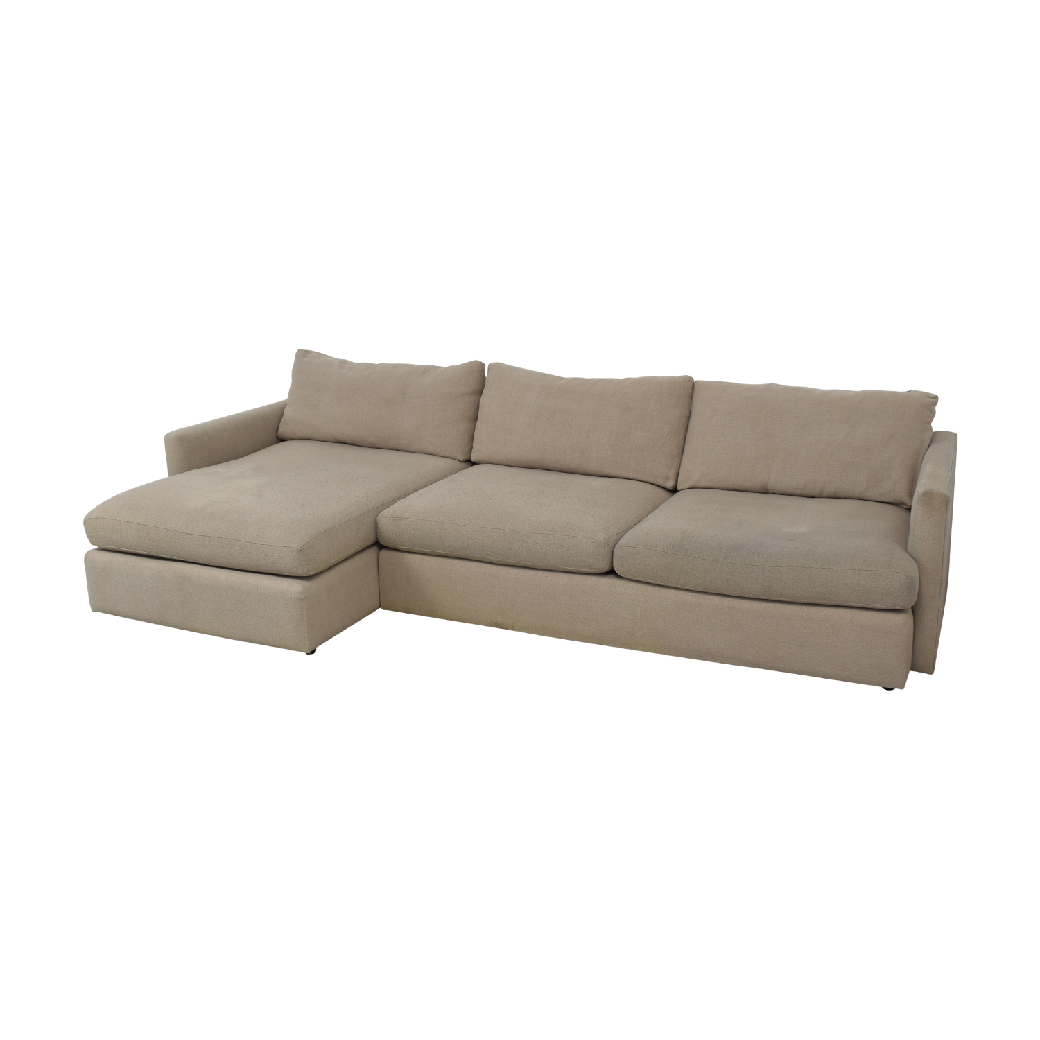 Crate & Barrel Axis II Chaise Sectional Sofa sale
