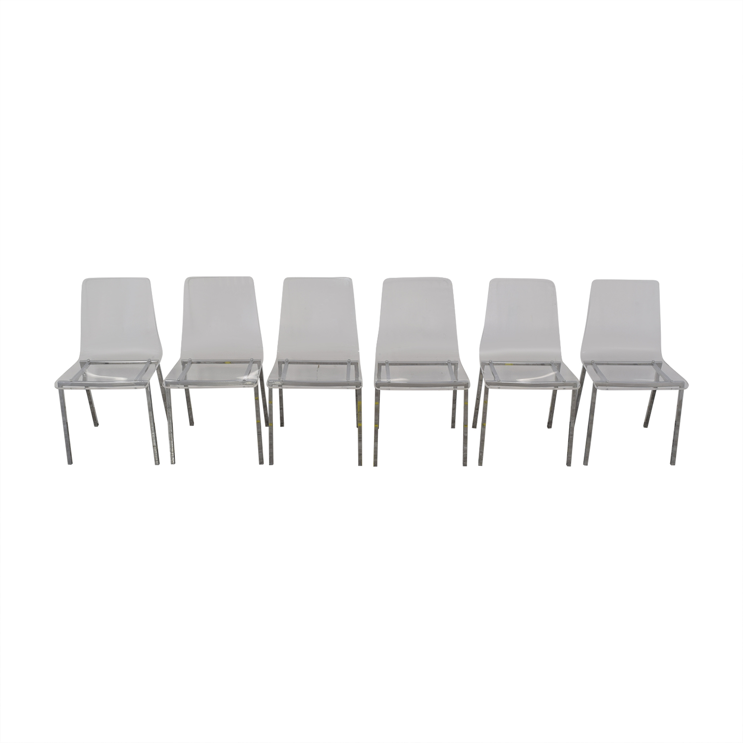 shop CB2 Acrylic Vapor Dining Chairs CB2 Dining Chairs