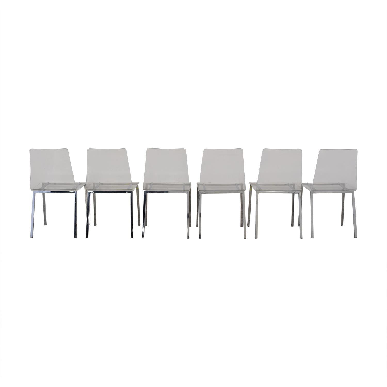CB2 Acrylic Vapor Dining Chairs / Chairs