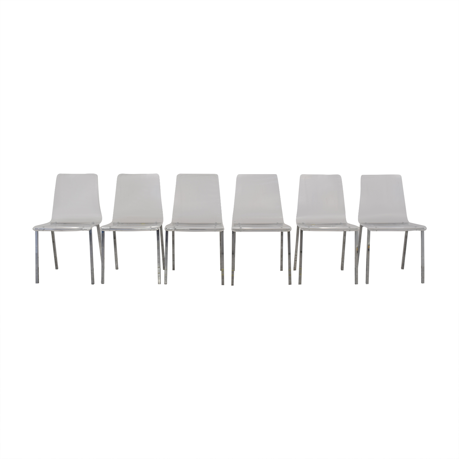 CB2 CB2 Acrylic Vapor Dining Chairs on sale