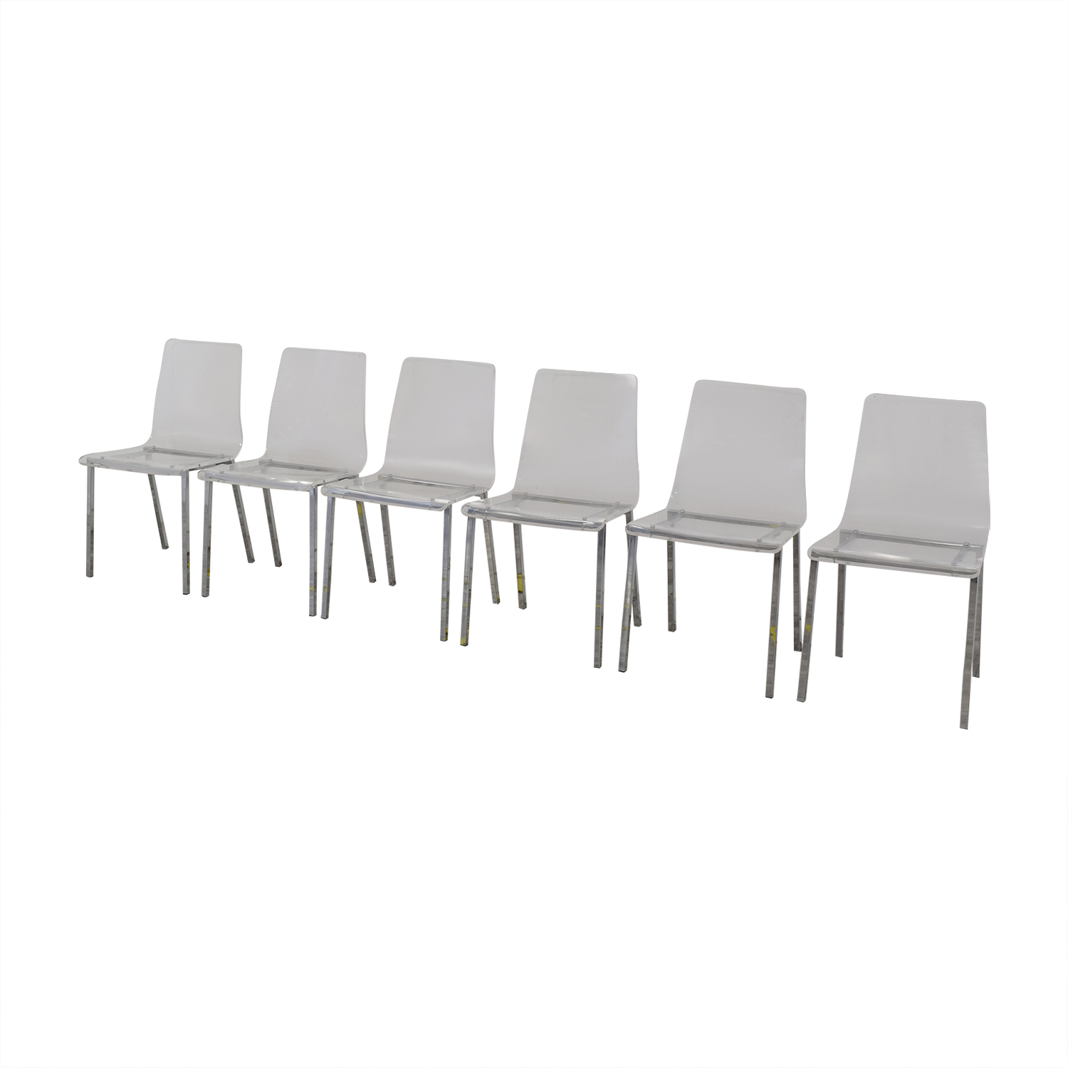 CB2 CB2 Acrylic Vapor Dining Chairs used