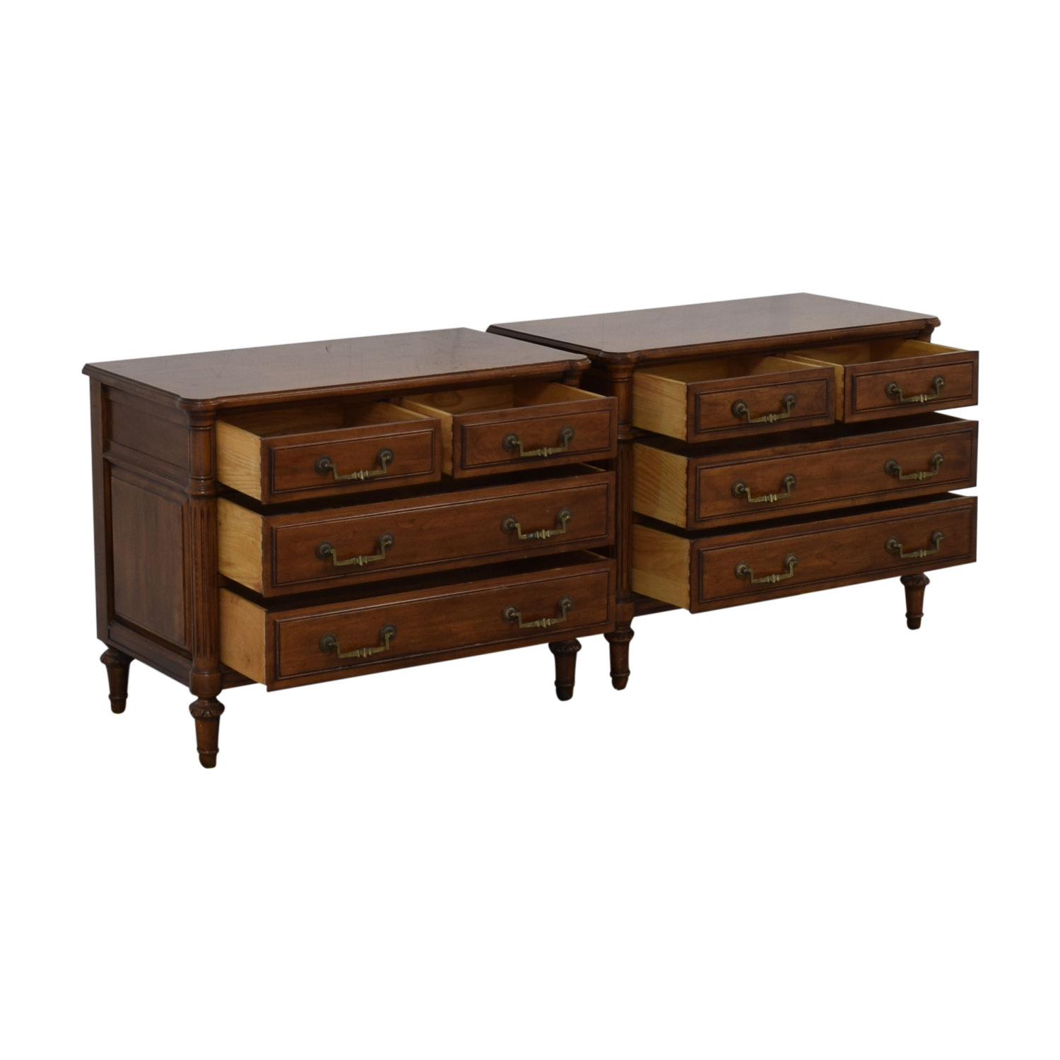 Baker Furniture Baker Furniture Davis Cabinet Four-Drawer End Tables nyc
