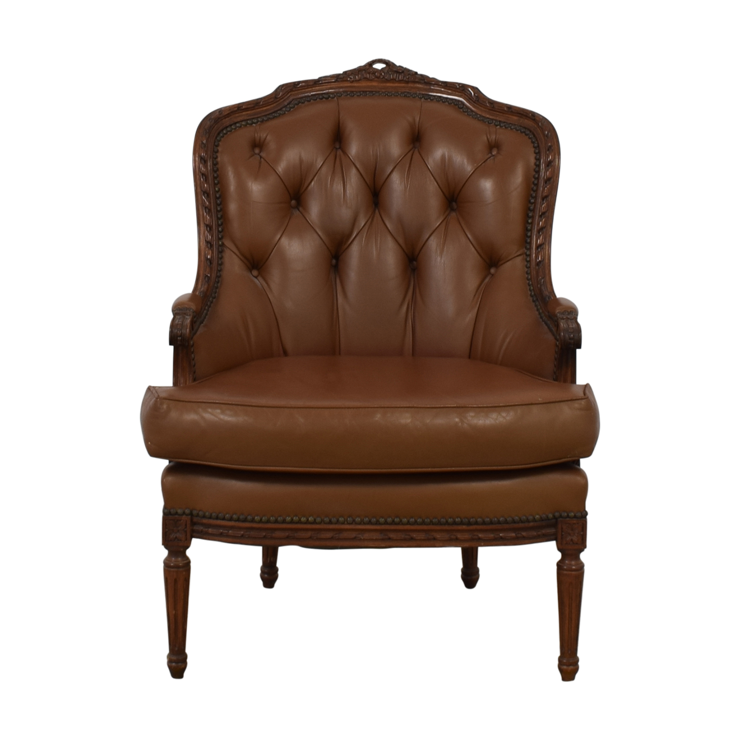 Nailhead Wingback Chair Accent Chairs