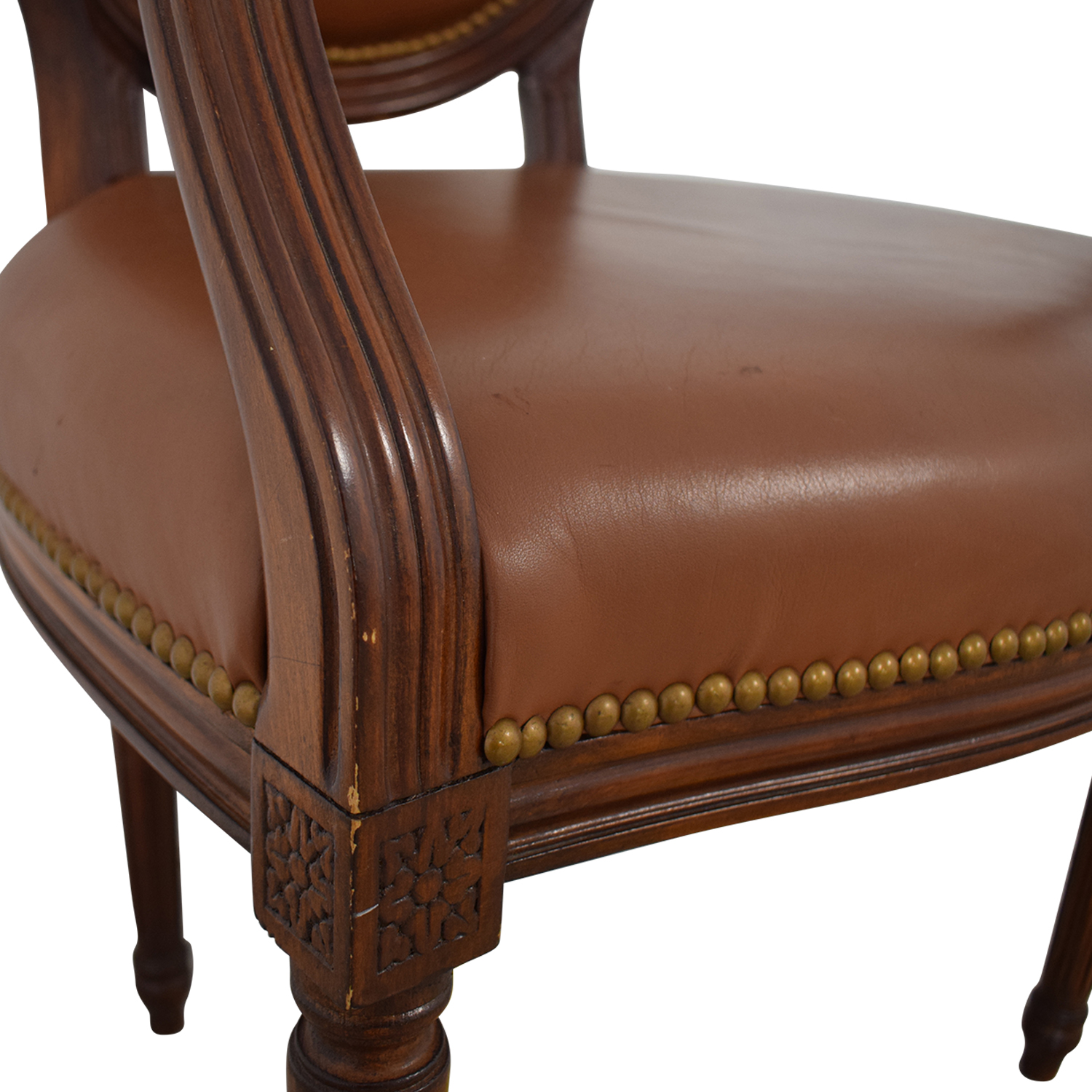Pleasant 85 Off Leather Arm Chair Chairs Pdpeps Interior Chair Design Pdpepsorg