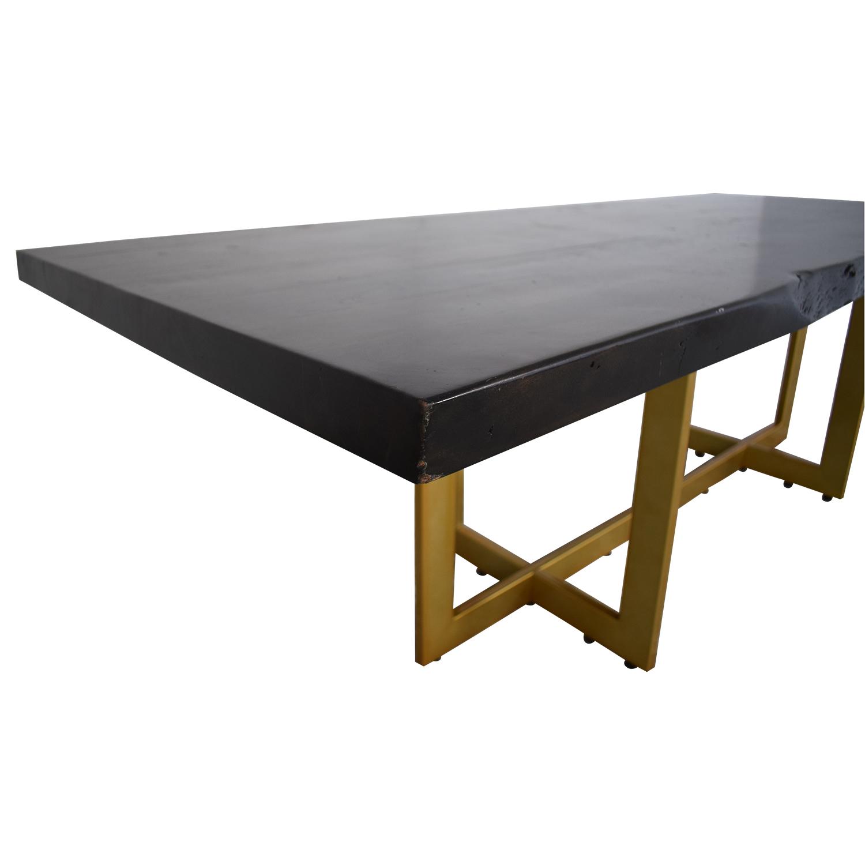 AllModern AllModern Everly Quinn Acacia Wood Slab Table dimensions