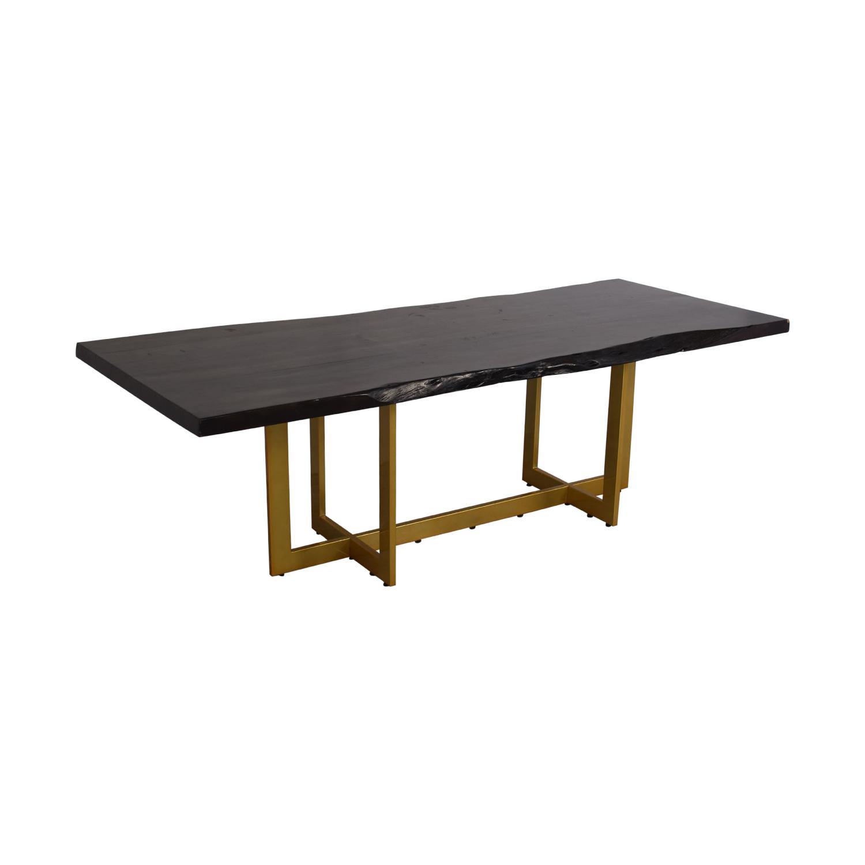 shop AllModern AllModern Everly Quinn Acacia Wood Slab Table online