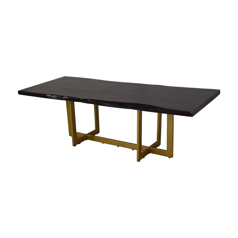 AllModern Everly Quinn Acacia Wood Slab Table sale