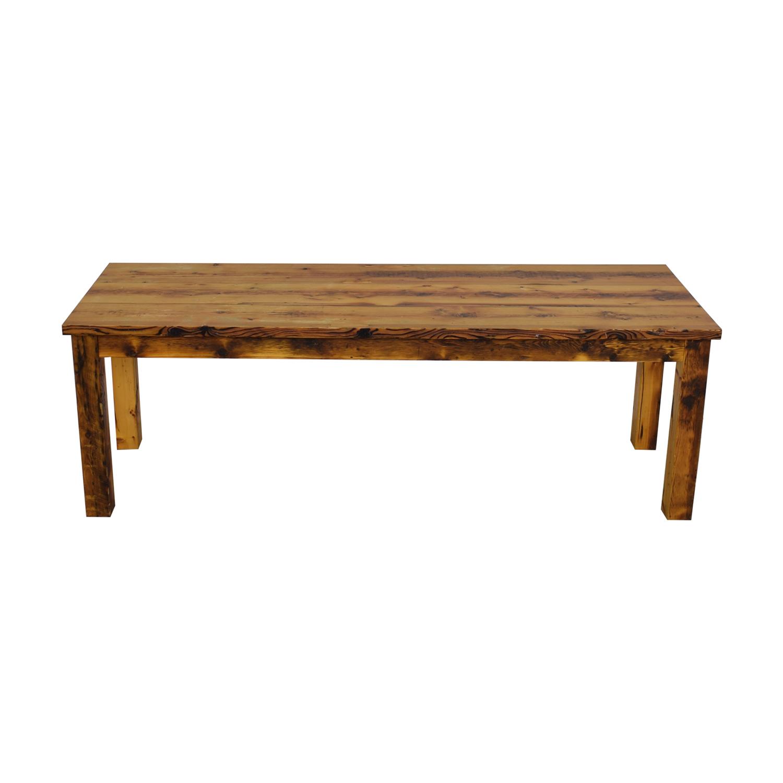 Olde Good Things Rustic Square Leg Farm Table Olde Good Things