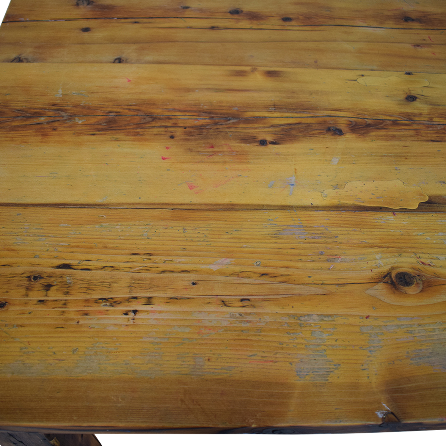 Olde Good Things Olde Good Things Rustic Square Leg Farm Table for sale