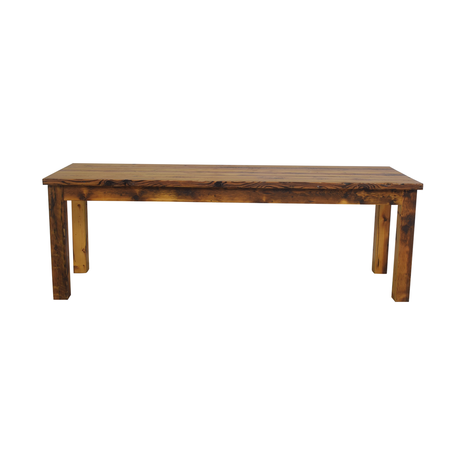 buy Olde Good Things Rustic Square Leg Farm Table Olde Good Things
