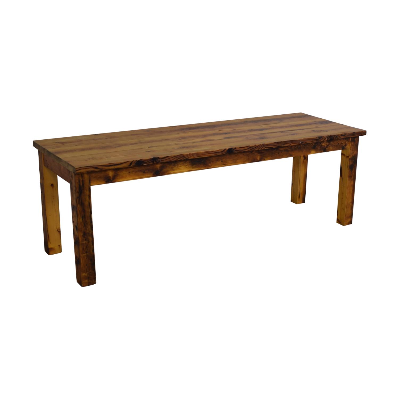 Olde Good Things Olde Good Things Rustic Square Leg Farm Table brown