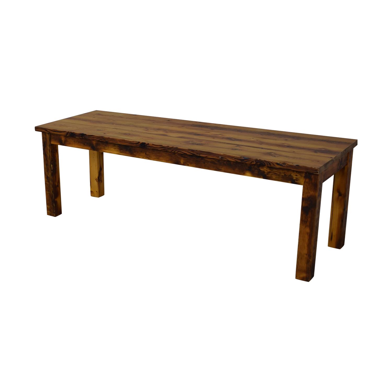 buy Olde Good Things Rustic Square Leg Farm Table Olde Good Things Dinner Tables