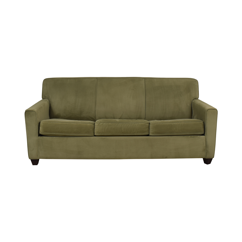 Raymour & Flanigan Raymour & Flanigan Queen Sleeper Sofa green