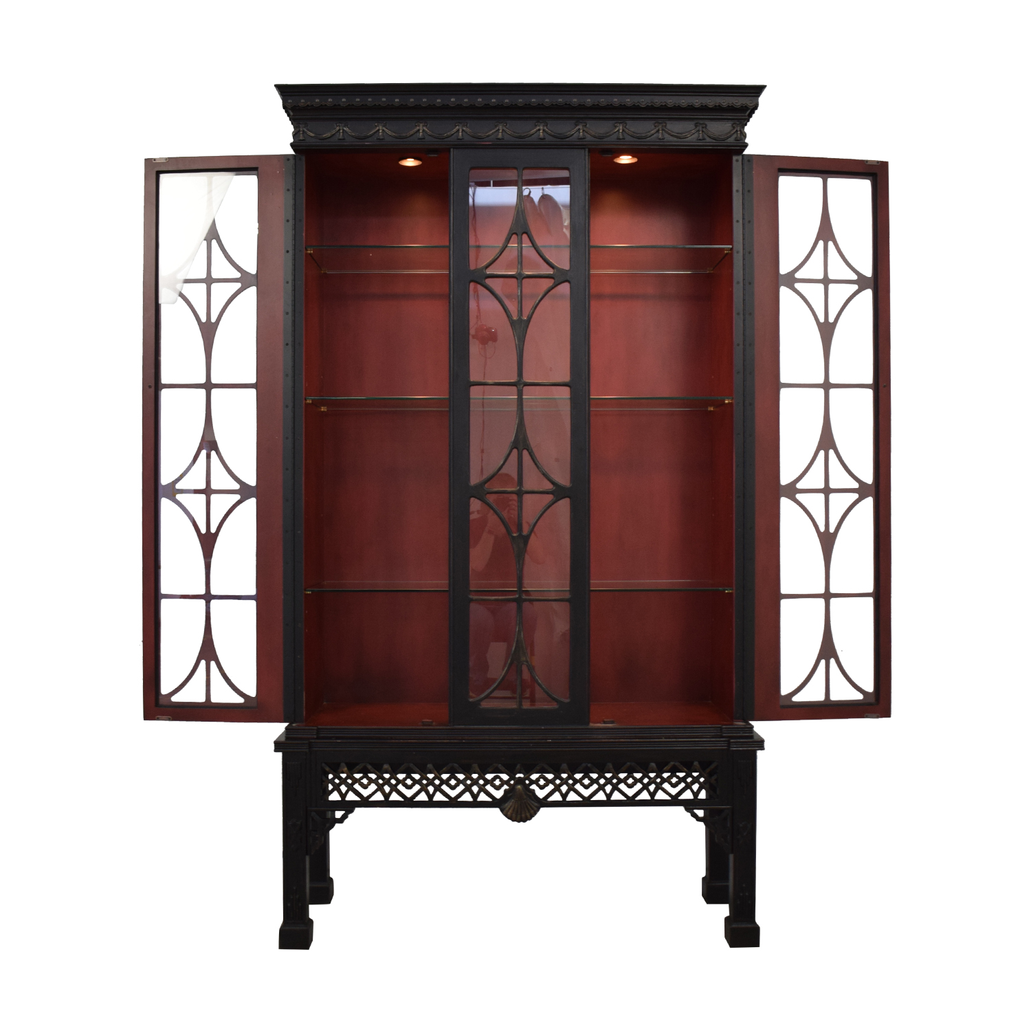 Black Display Cabinet nj