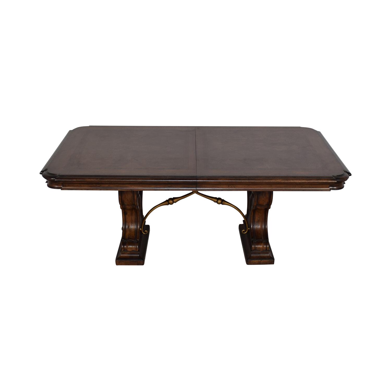 buy Thomasville Bibbiano Trestle Dining Table Thomasville Tables
