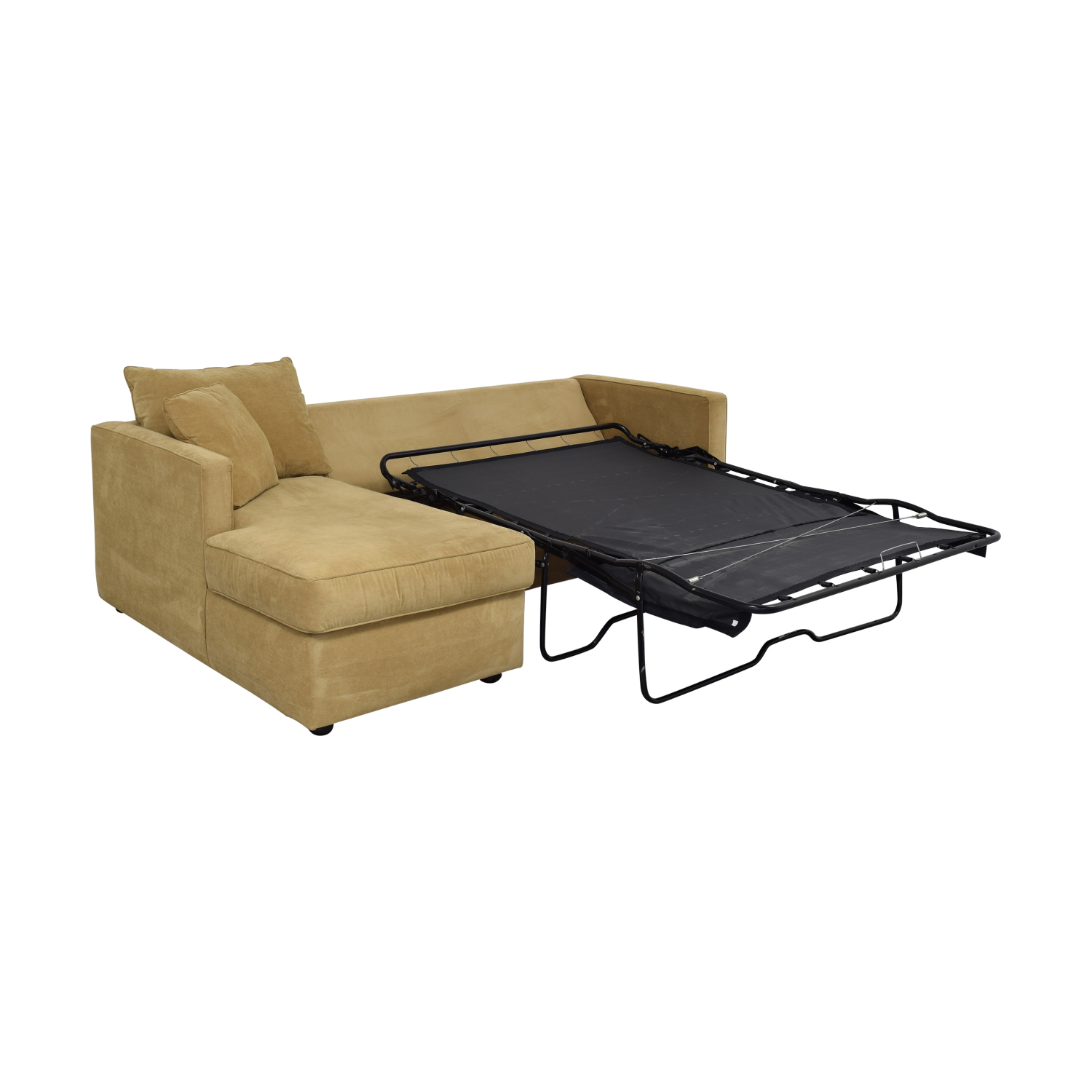 Klaussner Klaussner Chaise Sectional Sleeper Sofa Beige