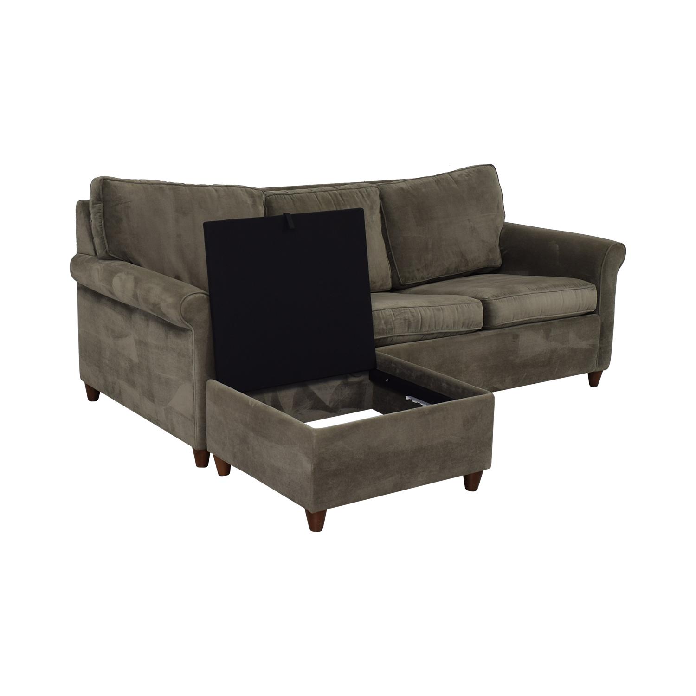 shop Macy's Macy's Lidia Chaise Sectional Queen Sleeper Sofa online