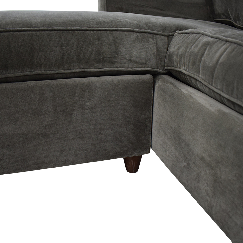 Macy's Macy's Lidia Chaise Sectional Queen Sleeper Sofa ct