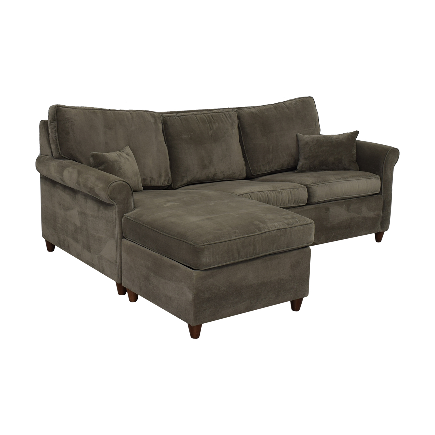 65% OFF - Macy\'s Macy\'s Lidia Chaise Sectional Queen Sleeper Sofa / Sofas
