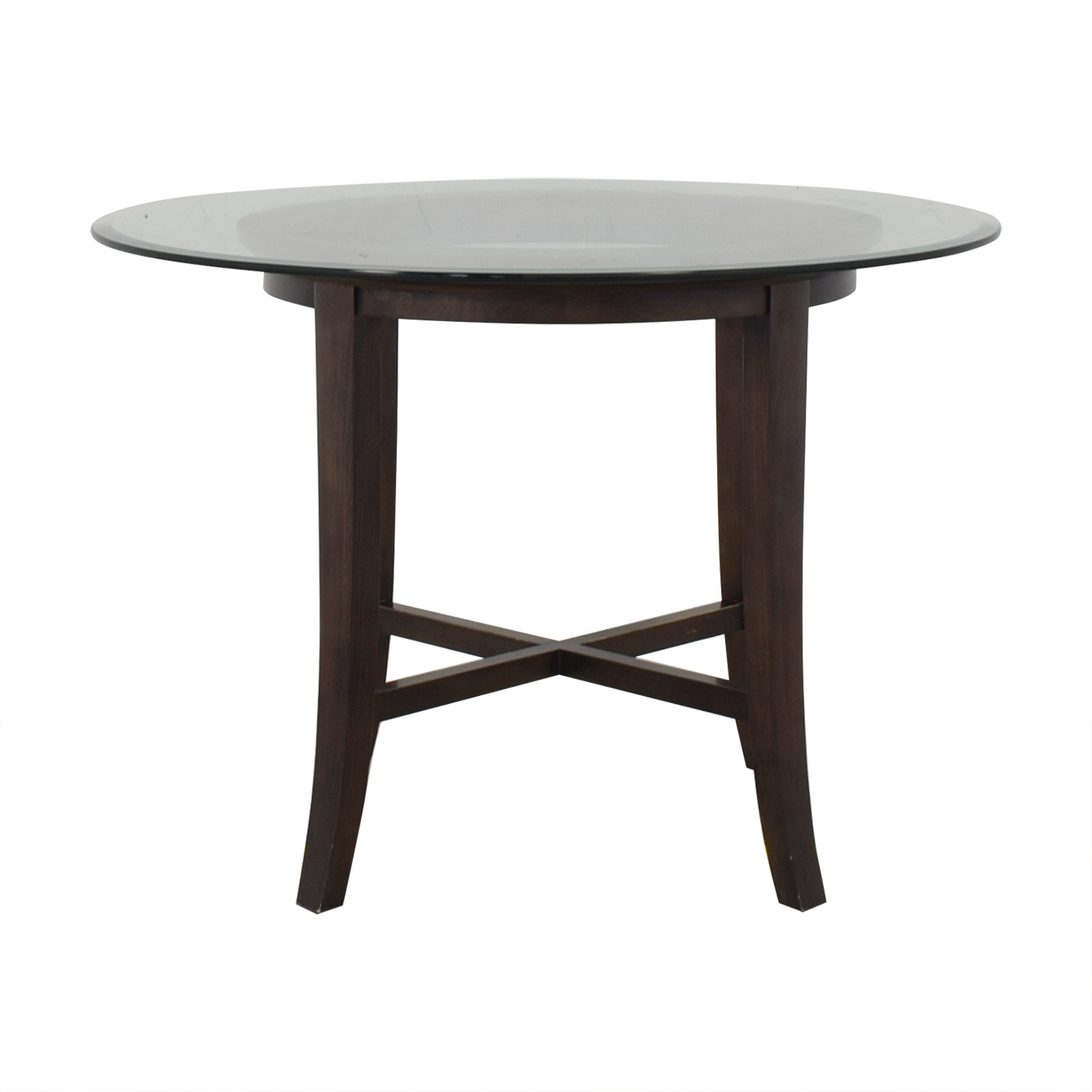 Crate & Barrel Crate & Barrel Halo Ebony Round Dining Table