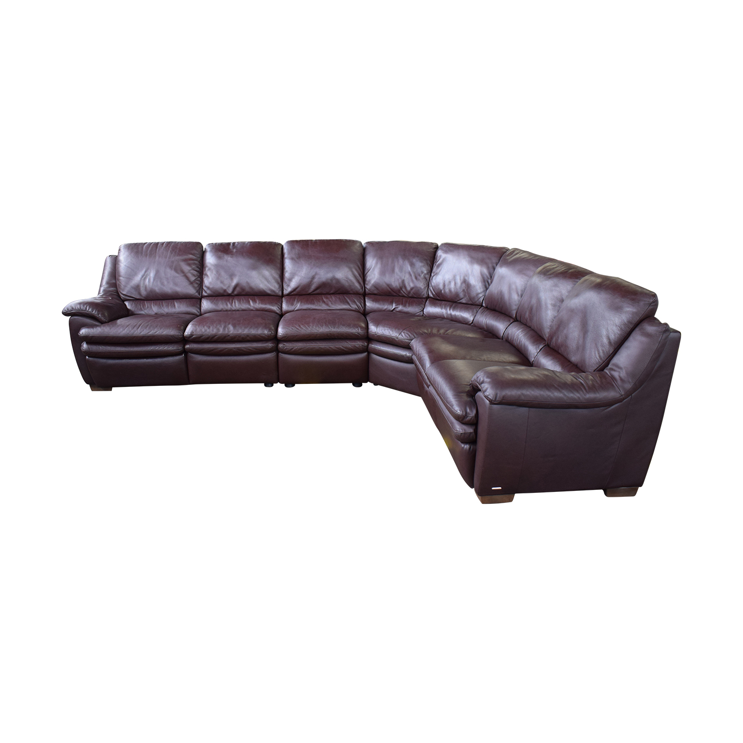 69% OFF - Natuzzi Natuzzi Reclining Sectional Sofa / Sofas