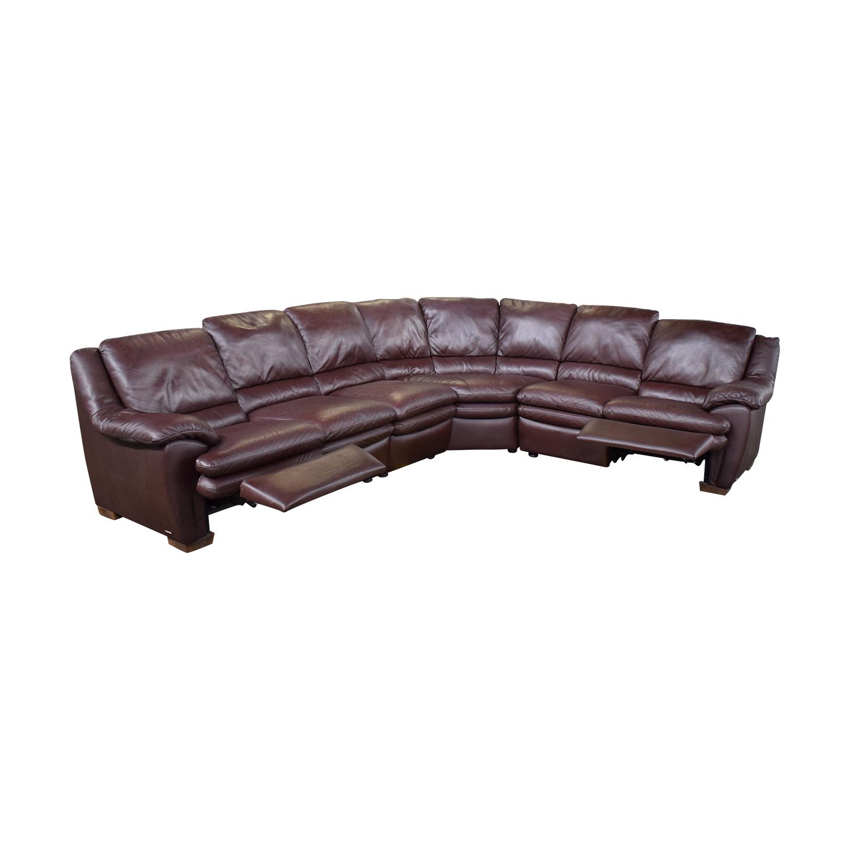 Natuzzi Natuzzi Reclining Sectional Sofa nj