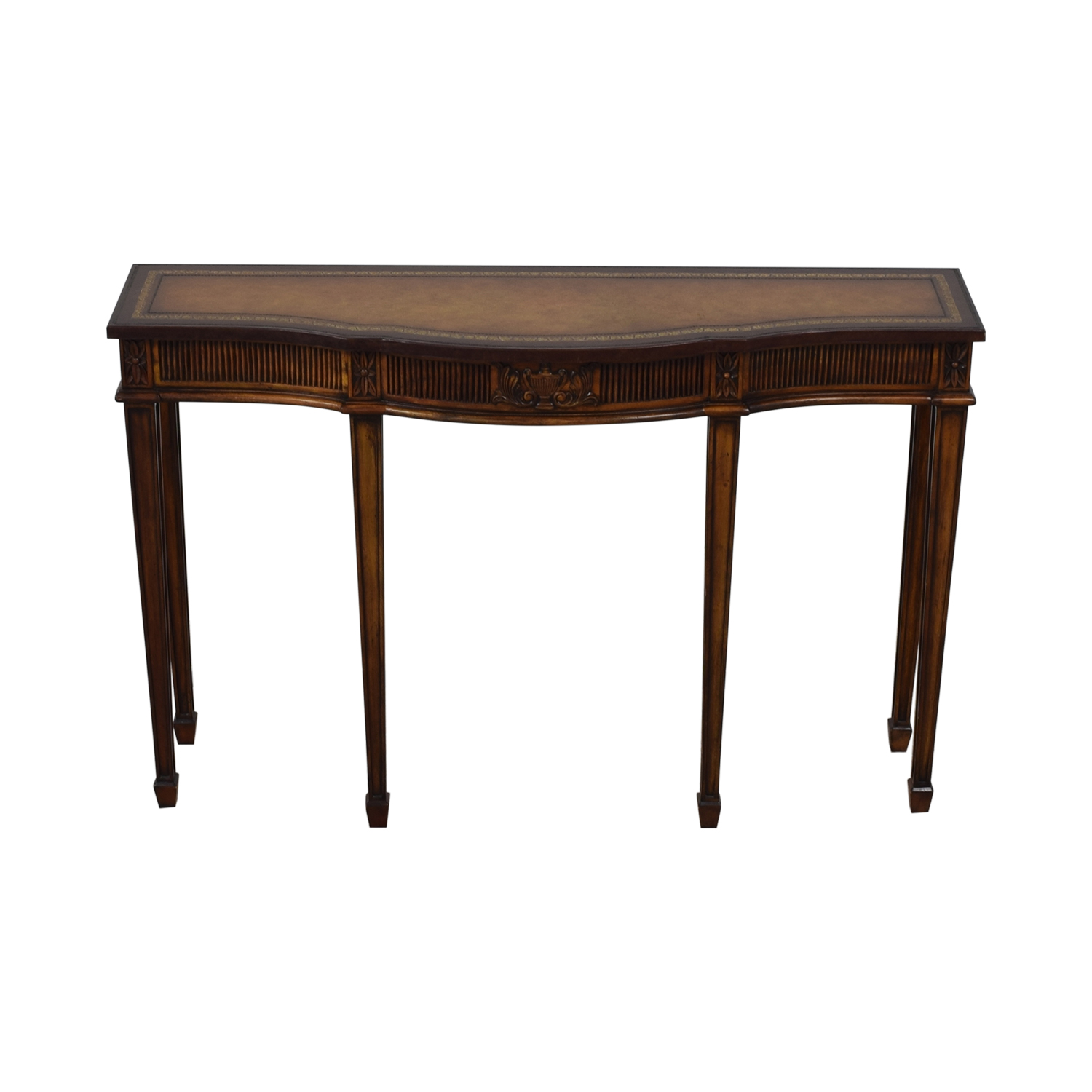 shop Maitland-Smith Narrow Leather Top Entry Table Maitland-Smith Accent Tables