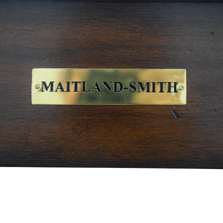 shop Maitland-Smith Narrow Leather Top Entry Table Maitland-Smith