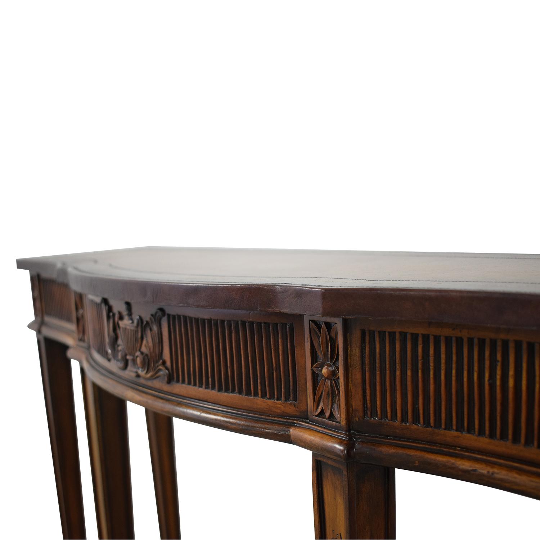Maitland-Smith Maitland-Smith Narrow Leather Top Entry Table second hand