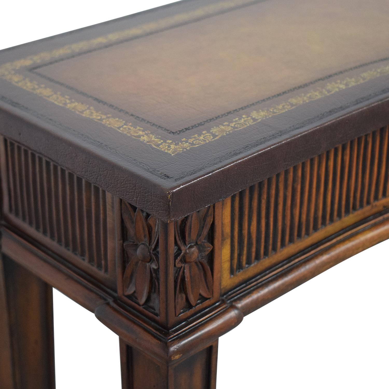 Maitland-Smith Maitland-Smith Narrow Leather Top Entry Table on sale