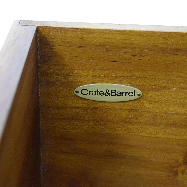 buy Crate & Barrel Crate & Barrel Solid Wood Bedside Table online