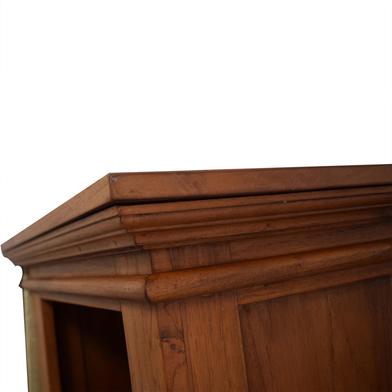 Crate & Barrel Solid Wood Bedside Table sale