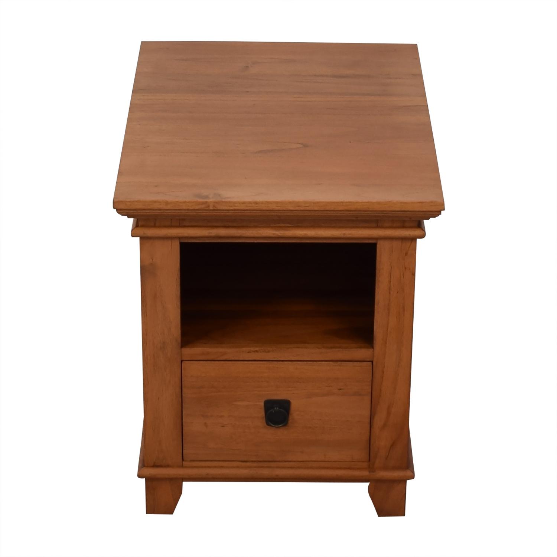 Crate & Barrel Crate & Barrel Solid Wood Bedside Table