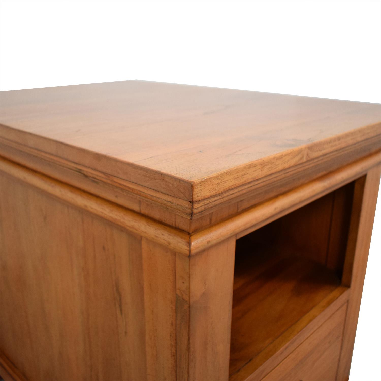 Crate & Barrel Crate & Barrel Solid Wood Bedside Table nyc