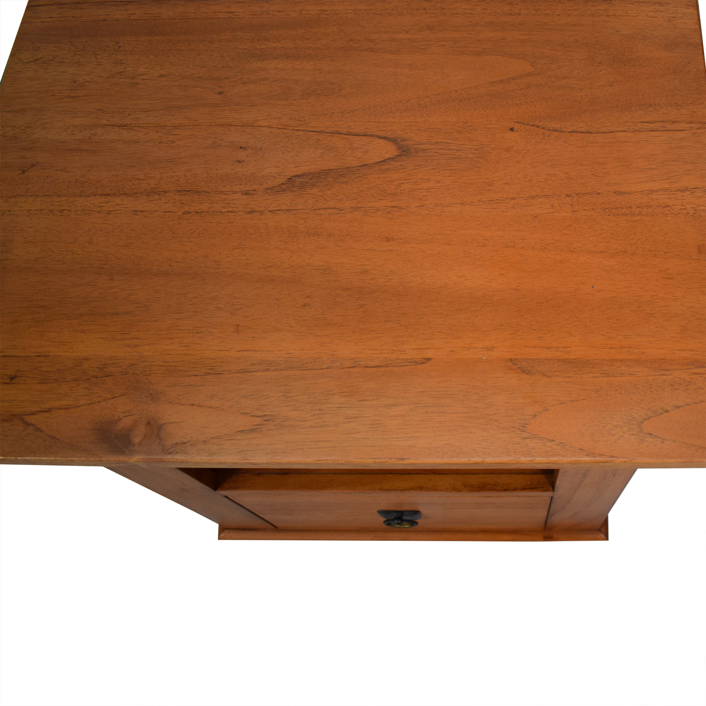 Crate & Barrel Solid Wood Bedside Table / End Tables