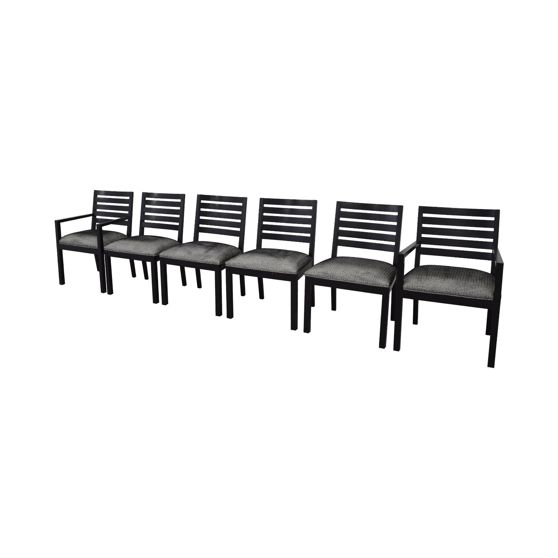 shop Ethan Allen Horizontal Slat Dining Chairs Ethan Allen Dining Chairs