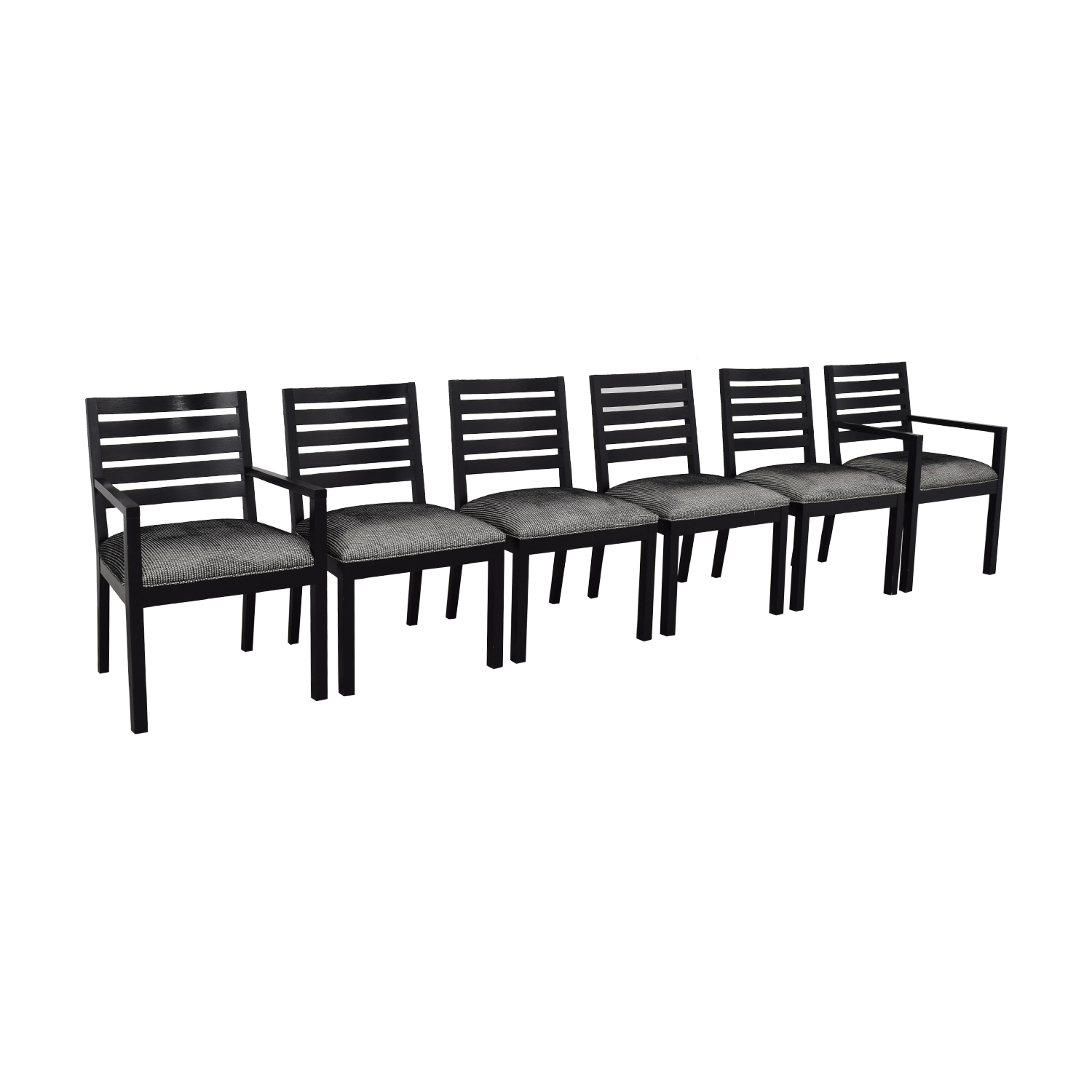 Ethan Allen Horizontal Slat Dining Chairs / Chairs