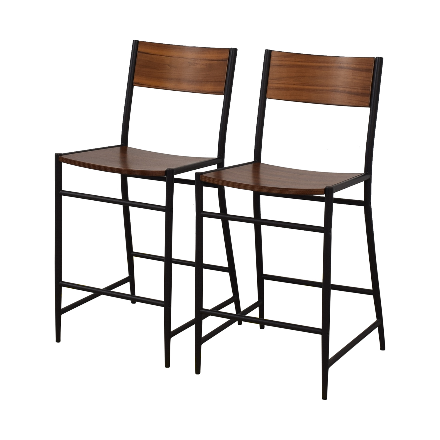 West Elm West Elm Acacia Counter Stools used