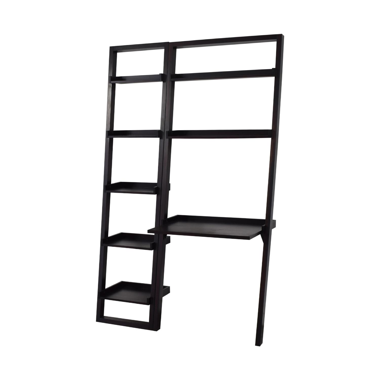 Crate & Barrel Crate and Barrel Ladder Shelf with Desk Tables